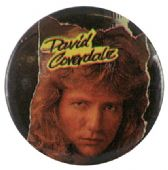 Whitesnake - 'David Coverdale Face' Button Badge